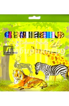 Карандаши Джунгли (24 цвета)  (TZ 4028)Цветные карандаши более 20 цветов<br>Карандаши цветные.<br>Количество цветов: 24.<br>Состав: древесина, цветной графит. <br>Сделано в Китае.<br>