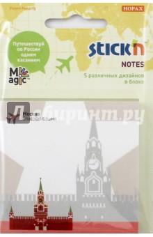 Блок для записи самоклеящийся Magic (100 листов, 70x70мм, с рисунком) (21703)Бумага для записей с липким слоем<br>Блок для записи самоклеящийся.<br>Количество листов: 100.<br>Размер: 70х70 мм.<br>5 различных дизайнов в блоке. <br>Сделано в Китае.<br>