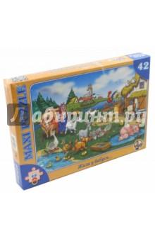 Пазл-42 макси Жили у бабуси (00211)Пазлы (15-50 элементов)<br>Пазл-мозаика Maxi.<br>42 элемента.<br>Размер собранной картинки 21,5 х 30 см.<br>Материал: картон, бумага.<br>Упаковка: картонная коробка.<br>Сделано в России.<br>