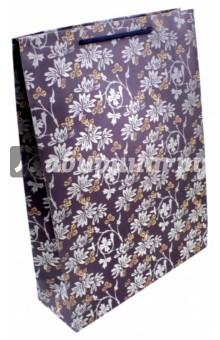 "Пакет бумажный ""Голубые цветы"" (24х33х8 см) (43731) Феникс-Презент"