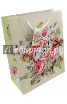 """Бумажный пакет """"Розовый куст"""" (26х32,4х12,7 см) (44227) Феникс-Презент"""
