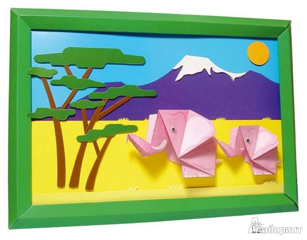 Картины с оригами для оформления детского сада