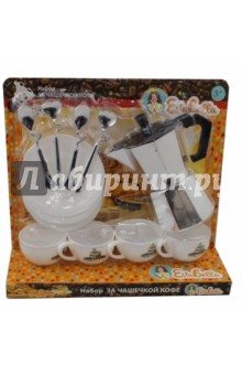 Набор За чашечкой кофе (64736)Наборы игрушечной посуды<br>За чашечкой кофе от компании EstaBella - это набор игрушечной посуды, который поможет скрасить досуг ребенка. Главная особенность данного набора - это реалистичность, все элементы выглядят невероятно натурально, поэтому ребенок будет думать, что играет с настоящей посудой. Благодаря элементам набора, ребенок сможет устроить небольшой прием вместе со своими друзьями.<br>Комплектность: 13 элементов (кофейник, 4 чашечки, 4 блюдца, 4 ложки).<br>Не рекомендовано детям младше 3-х лет. Содержит мелкие детали. <br>Для детей от 3-х лет<br>Материал пластик.<br>Сделано в Китае.<br>