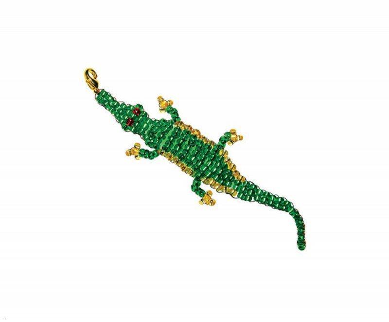 С помощью комплекта материалов и инструкции по изготовлению Вы можете создать самостоятельно Крокодила - из бисера на...
