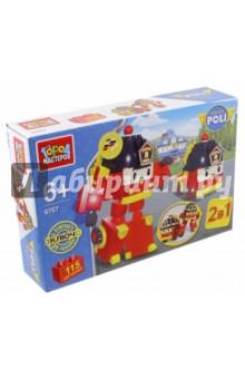 Конструктор Робот - пожарная машина 2-в-1 (BB-6767-R)Конструкторы из пластмассы и мягкого пластика<br>Из ярких деталей этого конструктора дети смогут собрать не просто яркую конструкцию для игр, а целого персонажа мультфильма. Ведь эта пожарная машина известна детям по популярному мультику о Поли Робокаре. Причем этот герой, как и его прототип, сможет превращаться в робота и обратно в машинку, поэтому одновременно дети получают сразу 2 игрушки.<br>Конструктор состоит из 115 разноцветных деталей, которые при сборке образуют яркую пожарную машину.<br>В комплекте ключ для разборки.<br>Материал: пластик.<br>Не рекомендовано детям младше 3-х лет. Содержит мелкие детали.<br>Для детей от 3- х лет.<br>Сделано в Китае.<br>
