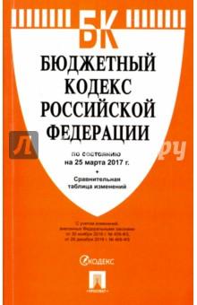 Бюджетный кодекс Российской Федерации по состоянию на 25.03.17 г