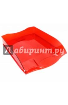 """Лоток для бумаг горизонтальный """"Премиум"""", красный (IT806Rd) INDEX"""