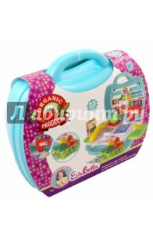 Набор Супермаркет с продуктами в чемоданчике (65751)Играем в профессии<br>EstaBella - это увлекательный мир игры, фантазии, воображения для маленькой девочки.<br>Игровой набор Супермаркет с продуктами, станет прекрасным поводом попробовать себя в роли продавца. Открыв чемоданчик, ребенок увидит кассу, весы, игрушечную еду, а также корзинку для нее. Различные аксессуары, представленные в данном наборе, сделают игру интересной.<br>В комплекте: касса, продукты, аксессуары.<br>23 элемента. <br>Не рекомендовано детям младше 3-х лет. Содержит мелкие детали. <br>Для детей от 3-х лет<br>Материал пластмасса, бумага.<br>Сделано в Китае.<br>