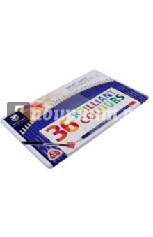 Набор карандашей акварельных, 36 цветов Ergosoft (156M36)Цветные карандаши более 20 цветов<br>Набор цветных акварельных карандашей.<br>36 штук, 36 цветов.<br>С А-В-S системой.<br>Материал: дерево.<br>Упаковка: металлическая коробка.<br>Сделано в Германии.<br>
