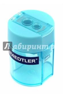 Точилка пластиковая, 2 диаметра, голубой (512006-37)Точилки<br>Точилка пластиковая.<br>2 диаметра.<br>Материал: пластик.<br>С контейнером .<br>Сделано в Китае.<br>