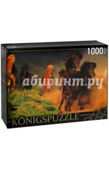 Puzzle-1000 Табун лошадей (КБК1000-6456)Пазлы (1000 элементов)<br>Пазл.<br>Количество элементов: 1000.<br>Размер собранной картинки: 685х485 мм<br>Материалы: картон.<br>Упаковка: картонная коробка.<br>Сделано в России.<br>