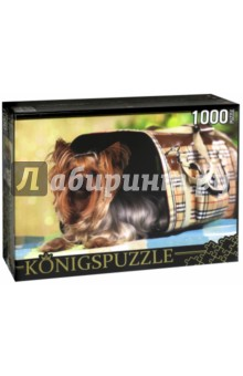 Puzzle-1000 Йоркширский терьер (КБК1000-6468)Пазлы (1000 элементов)<br>Пазл.<br>Количество элементов: 1000.<br>Размер собранной картинки: 685х485 мм<br>Материалы: картон.<br>Упаковка: картонная коробка.<br>Сделано в России.<br>