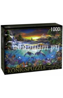Puzzle-1000 Подводная жизнь (МГК1000-6475)Пазлы (1000 элементов)<br>Пазл.<br>Количество элементов: 1000.<br>Размер собранной картинки: 685х485 мм<br>Материалы: картон.<br>Упаковка: картонная коробка.<br>Сделано в России.<br>