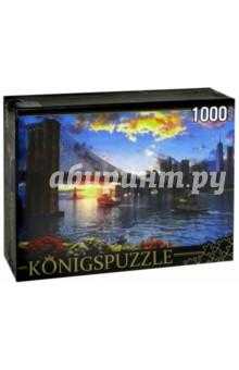 Puzzle-1000 Бруклинский мост (МГК1000-6487)Пазлы (1000 элементов)<br>Пазл.<br>Количество элементов: 1000.<br>Размер собранной картинки: 685х485 мм<br>Материалы: картон.<br>Упаковка: картонная коробка.<br>Сделано в России.<br>