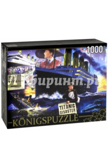 Puzzle-1000 Титаник (МГК1000-6512)Пазлы (1000 элементов)<br>Пазл.<br>Количество элементов: 1000.<br>Размер собранной картинки: 685х485 мм<br>Материалы: картон.<br>Упаковка: картонная коробка.<br>Сделано в России.<br>
