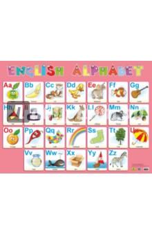 Плакат Английский алфавит (Кр652п)Английский для детей<br>Плакат Английский алфавит для детей. С цветными иллюстрациями.<br>Материал: мелованный картон.<br>Размер: 80,8х60 см.<br>
