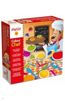 Игра настольная Цветной Шеф (47147)Другие настольные игры<br>В этой игре дети на скорость должны заполнять свои корзины продуктами питания и столовыми приборами, выбирая их по цветам. Игрок, который соберет больше всех предметов, выиграет титул Цветного Шефа. <br>Игра развивает логику, концентрацию внимания, мелкую моторику, умение играть по правилам, а также тренирует ребенка в распознавании цветов. <br>Состав набора: 4 корзины, 32 карточки с продуктами, 36 пластиковых столовых приборов, пластиковый мешок.<br>Для детей 4-7 лет. <br>Не рекомендуется детям до 3-х лет. Содержит мелкие детали.<br>Сделано в Италии.<br>