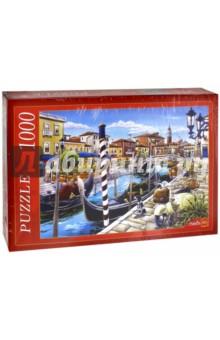Puzzle-1000 Венецианские гондолы (МГ1000-7364)Пазлы (1000 элементов)<br>Пазлы - популярная занимательная игра, которая развивает мелкую моторику рук, память, внимание посредством собирания яркой и красочной картинки, состоящей из мелких деталей. <br>Серия 1000 элементов - это огромное разнообразие дизайнов - города и страны, животные и птицы, искусство и живопись и многое-многое другое. <br>Количество элементов: 1000<br>Размеры собранной картинки: 68,5х48,5 см.<br>Материал: картон<br>Упаковка: картонная коробка<br>Сделано в России.<br>