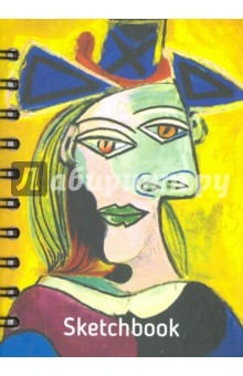Скетчбук, 100 листов, А6 Пикассо. Голова женщины в голубой шляпе (01672)Блокноты средние нелинованные<br>Скетчбук.<br>100 листов.<br>Формат А6 (110х148 мм).<br>Тип бумаги: офсет, 100 % белая.<br>Переплет: книжный твердый.<br>Крепление: двойная евроспираль.<br>Сделано в Беларуси.<br>