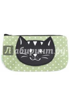 """Пенал школьный """"Черный кот"""" (ткань) (44141) Феникс+"""