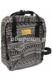 Рюкзак молодежный Модный узор (44272)Рюкзаки школьные<br>Рюкзак молодежный имеет:<br>- 1 большое отделение на молнии с внутренним карманом.<br>- 1 накладной карман спереди на молнии. <br>- Ручки для переноски рюкзака в руках.<br>Длина лямок регулируется.<br>Материал: полиэстер<br>Размер: 28х22х9 см.<br>Производство: Китай.<br>
