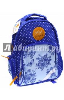Рюкзак школьный Горошек и цветы (43276)Рюкзаки школьные<br>Рюкзак школьный имеет:<br>- 1 большое отделение на молнии.<br>- 1 накладной карман спереди на молнии. <br>- 2 накладных кармана по бокам. <br>- Ручку для переноски рюкзака в руках.<br>Длина лямок регулируется.<br>Светоотражающие вставки.<br>Карабин для ключей.<br>Материал: полиэстер<br>Размер: 36х29х13 см.<br>Для школьников 6-14 лет.<br>Производство: Китай.<br>