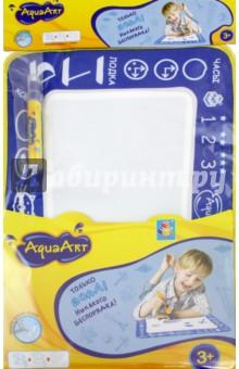 Коврик AquaArt для рисования водой (многоцветный, синий) (Т59437)Водные раскраски<br>Коврик AquaArt для рисования водой.<br>В наборе: коврик, водный маркер.<br>Размер коврика: 30х35 см.<br>Материалы коврика: нейлон 100%, наполнитель: губка, полиэтиленвинилацетат (PEVA).<br>Материал маркера: пластмасса.<br>Для детей от 3-х лет.<br>Сделано в Китае.<br>