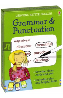 Grammar and Punctuation. Activity CardsИзучение иностранного языка<br>This set of cards contains 50 exercises and a wipe-clean pen to test your grammar and punctuation.<br>
