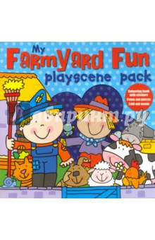 My Farmyard Fun. Playscene PackЛитература на английском языке<br>This interactive playscene pack contains everything you need to keep children occupied for hours!<br>The card box contains: A book with lots of pictures to colour, and stickers with which to decorate the pages. A book with easy-to-use press-out models, to press-out and make. A reversible playscene to fold out and use as a background for the press-out pieces.<br>
