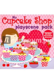 My Cupcake Shop. Playscene PackЛитература на иностранном языке для детей<br>This interactive playscene pack contains everything you need to keep children occupied for hours!<br>The card box contains: A book with lots of pictures to colour, and stickers with which to decorate the pages. A book with easy-to-use press-out models, to press-out and make. A reversible playscene to fold out and use as a background for the press-out pieces.<br>
