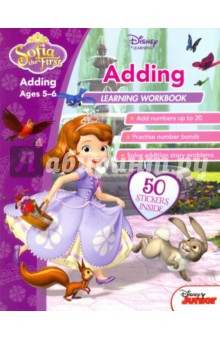 Sofia the First. Adding. Ages 5-6Литература на иностранном языке для детей<br>Disney Learning gives kids the skills to succeed with fun and imaginative learning practice. With the help of Sofia and all her friends from Enchancia:<br>- Learn to add numbers up to 20<br>- Solve simple story problems<br>- Practise number bonds <br>Other titles in the SOFIA THE FIRST workbook series for ages 5 to 6: Words to Read and Learn Reading and Comprehension Subtracting<br>