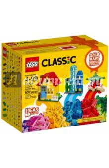 Конструктор Classic. Набор для творческого конструирования (10703)Конструкторы из пластмассы и мягкого пластика<br>Открой бесконечный мир весёлых и креативных игр с набором из серии LEGO® Classic, в который входят двери, окна, кубики и специальные элементы ярких цветов. Собирай симпатичные домики, интересные магазины, уютные кафе, пагоды в восточном стиле, волшебные замки и многое другое. Идеи для вдохновения можно найти в прилагаемом буклете или в Интернете. Придумывай, собирай и играй с наборами LEGO Classic!<br>Состав: пластик. <br>Не рекомендовано детям младше 3-х лет. Содержит мелкие детали.<br>