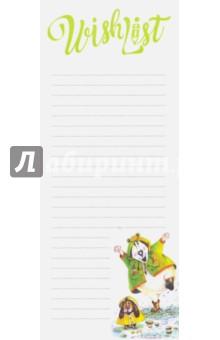 WishList После дождя всегда появляется солнце!Бумага для записей с липким слоем<br>Блок для записи желаний или списка покупок. <br>Авторские иллюстрации Марии Базыкиной. <br>35 листов, удобный формат. <br>Упаковка - пакет с европодвесом.<br>