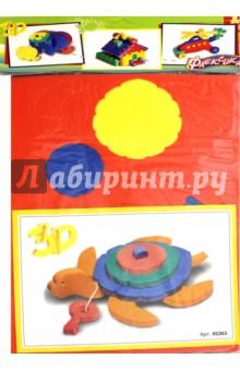 Конструктор Черепаха (45363)Конструкторы из пластмассы и мягкого пластика<br>Конструктор выполнен из мягкого, прочного, нетоксичного материала.<br>Развивает у ребенка память, воображение, моторику, пространственное и логическое мышление. <br>Материал: пенополиэтилен.<br>Не рекомендовано детям младше 3-х лет. Содержит мелкие детали. <br>Для детей старше 3-х лет.  <br>Сделано в России.<br>