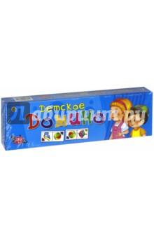 Детское домино (ИН-0339)Домино<br>Домино.<br>Количество игроков: 2-4.<br>Материал: пластик, бумага.<br>Упаковка: картонная коробка.<br>Сделано в России.<br>