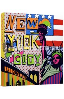 Скетчбук Нью-ЙоркАльбомы/папки для профессионального рисования<br>Скетчбук.<br>Количество страниц: 96<br>Формат: А6- (168х165 мм).<br>Внутренний блок: тонированный офсет<br>Прошитый блок.<br>Переплет: 7Б<br>