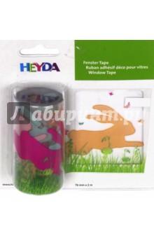 Наклейка многоразовая Кролик (76 мм х 2м)Наклейки детские<br>Декоративная наклейка Heyda. Благодаря красочному принту и крепкой клеевой основе поможет украсить вашу открытку, поделку или добавит новых красок в декор. Подходит для многоразового использования. Для лучшего эффекта - используйте наклейку на гладких поверхностях, разгладьте после поклейки. <br>Рисунок: Кролик<br>Размер наклейки: 7,6 x 200 см.<br>