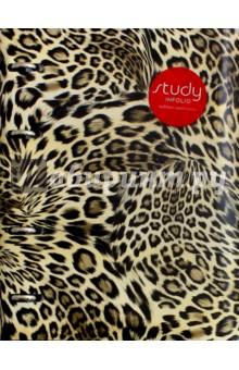 Тетрадь общая Leopard (120 листов, клетка, на кольцах) (N573B)Тетради многопредметные, со сменными блоками<br>Тетрадь общая.<br>Формат: А5.<br>Количество листов: 120.<br>Внутренний блок: офсетная печать, бумага 100% белизны, 65 г/м2. <br>Обложка: снаружи - высококачественная, тактильно приятная искусственная кожа с леопардовым принтом; внутри - черный картон 300 г/м2. <br>Дизайн внутреннего блока в клетку<br>Кольцевой механизм. <br>Сделано в Республике Беларусь.<br>