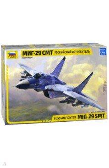 Сборная модель Самолет МиГ-29 СМТ, 1/72 (7309)Пластиковые модели: Авиатехника (1:72)<br>МиГ-29 СМТ - многоцелевой фронтовой истребитель, дальнейшее развитие МиГ-29. СМТ превосходит своего родоначальника практически во всём. Это и дальность полёта, и новое навигационное и прицельное оборудование, очень широкая номенклатура вооружения, в том числе различные противокорабельные ракеты, а так же корректируемые бомбы. Так же появилась возможность дозаправки в воздухе, что ещё больше расширило возможности этого крайне удачного самолёта.<br>Масштаб: 1/72.<br>Количество деталей: 280<br>Длина: 24 см.<br>Моделистам до 10-ти лет рекомендуется помощь взрослых.<br>Запрещено детям до 3-х лет. Содержит мелкие детали.<br>Сделано в России.<br>