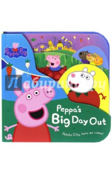 Peppa Pig: Peppas Big Day Out (big board book)Изучение иностранного языка<br>Up, down, up, down, altogether now, Mr Potato is rolling around. Your friend and mine, hes happy all the time, Mr Potato is coming to town! Join Peppa Pig and her family and friends in this brilliant adventure at Potato City, where the magic of vegetables never ends! A great, new shaped board book thats a perfect gift purchase for Peppa Pig fans. Based on the hit TV show, shown on Fives Milkshake and Nick Jnr.<br>