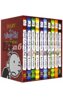 Diary of a Wimpy Kid. Box of 10 BooksЛитература на иностранном языке для детей<br>The first ten books in the bestselling Diary of a Wimpy Kid series are now available together in a collectible boxed set. Included are Diary of a Wimpy Kid, Rodrick Rules, The Last Straw, Dog Days, The Ugly Truth, Cabin Fever, The Third Wheel, Hard Luck, The Long Haul, and Old School, all in a specially designed package.<br>