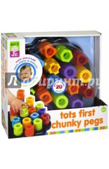 Развивающая игрушка Цветные гаечки (1953)Другие игрушки для малышей<br>Яркие цветные гаечки идеально подходят для крошечных детских ручек. Ребенок может их складывать, сортировать, подбирать по цвету. Развивает мелкую моторику рук и координацию в пространстве.<br>В наборе: 20 гаечек разных цветов.<br>Для детей от 18 месяцев.<br>Сделано в Китае.<br>