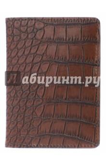 Обложка для паспорта Cayman (9,5x14 см) (IPC002)Обложки для паспортов<br>Обложка для паспорта.<br>Снаружи - переплетный материал с фактурой кожи крокодила; внутри - кармашки из искусственной кожи и пластиковый кармашек для мелочей.<br>Сделано в Китае.<br>