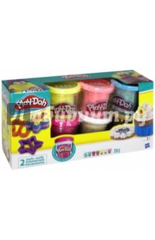 Набор пластилина с конфетти (6 баночек) (B3423)Пластилин 4—10 цветов<br>В комплект входят 6 баночек с разноцветной массой для лепки с добавленным в нее конфетти.<br>Поделки получаются еще более яркими и эффектными!<br>В комплект входят 2 формочки (звездочка и бабочка).<br>Для детей от 3-х лет.<br>Запрещено для детей младше 3-х лет. Содержит мелкие детали.<br>Сделано в Китае.<br>