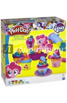Набор PLAY-DOH Вечеринка Пинки Пай (B9324)Наборы для лепки с игровыми элементами<br>Помоги Пинки Пай приготовить капкейки для друзей!<br>Включает экструдер, ролик, пресс-формы, формы для кекса, 1 стандартная, 5 небольших банок пластилина.<br>Для детей от 3-х лет.<br>Запрещено для детей младше 3-х лет. Содержит мелкие детали.<br>Сделано в Китае.<br>