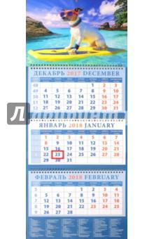 Календарь квартальный на 2018 год Год собаки. Джек рассел терьер на активном отдыхе (14813)Квартальные календари<br>Календарь на 2018 год, настенный, квартальный с пиколло и курсором для выделения текущей даты.<br>Бумага офсетная<br>Обложка глянцевая.<br>Крепление: спираль.<br>Формат: 320х780 мм.<br>Сделано в России.<br>