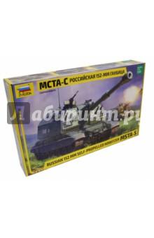 Сборная модель Российская 152-мм гаубица МСТА-С, 1/35 (3630)Бронетехника и военные автомобили (1:35)<br>МСТА-С - советская и российская самоходная 152-мм артиллерийская установка. Она может вести огонь по наблюдаемым и ненаблюдаемым целям с закрытых позиций и прямой наводкой, включая работу в горных условиях. При стрельбе используются как выстрелы из боеукладки, так и подающиеся с грунта, без потери в скорострельности, с дальностью стрельбы до 29 км. МСТА-С активно применялась в различных локальных конфликтах и заслужила самые высокие оценки военных.<br>Масштаб: 1/35.<br>Размер: 37,8 см.<br>Количество деталей: 451.<br>Материл: пластмасса.<br>Моделистам до 10 лет рекомендуется помощь взрослых. <br>Не рекомендуется детям до 3-х лет. Содержит мелкие детали.<br>Сделано в России.<br>