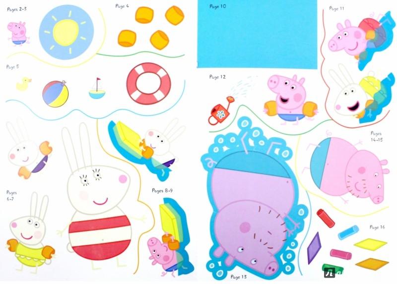 Peppa Pig Peppa Goes Swimming Sticker Story Book издательство