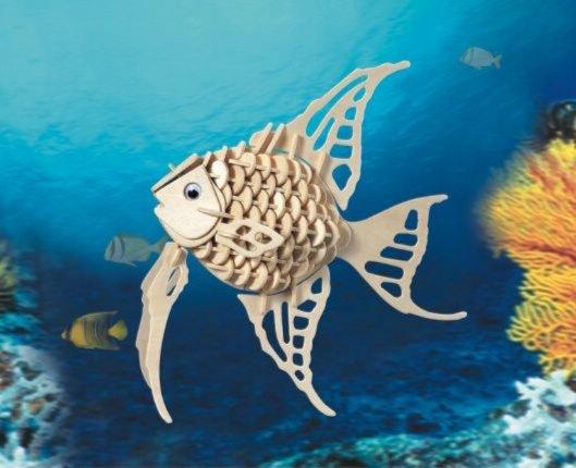 """Иллюстрация 1 из 11 для Сборная деревянная модель """"Ангельская рыбка"""" (H010)   Лабиринт - игрушки. Источник: Лабиринт"""