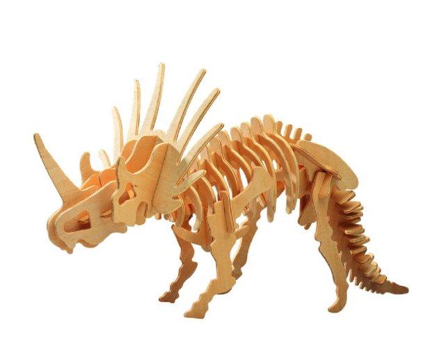 """Иллюстрация 1 из 7 для Сборная деревянная модель """"Стиракозавр"""" (J006)   Лабиринт - игрушки. Источник: Лабиринт"""